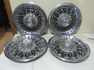 Vintage Set Of 4 1978 1980 Chevy Monte Carlo Wire Spoke Wheel Hubcaps 14