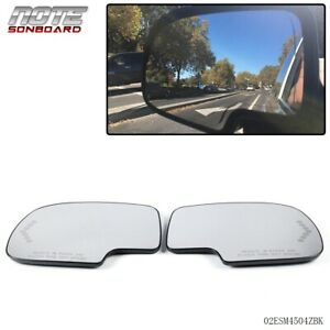Pair Mirror Heated With Turn Signal Left Right Side For Chevy Gmc Cadillac