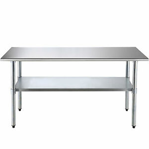 Commercial Stainless Steel 30 x72 Food Prep Work Table Kitchen Restaurant