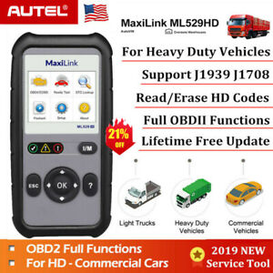 Autel Universal Heavy Duty Diesel Truck Diagnostic Scanner Tool Obd2 Code Reader