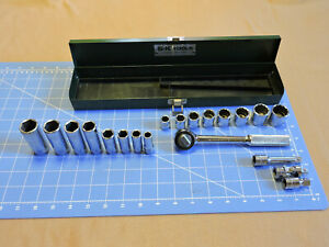 Sk 3 8 20pc Sae Socket Set With Ratchet And Extensions