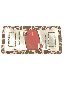 Camo Pink Brown Plastic License Plate Frame Tag