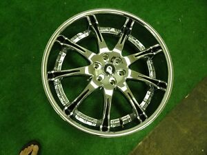 One Lexani Chrome 24 Inch Wheel Lx 9 Rim 24x10 6x5 5 Centercap 15 Offset