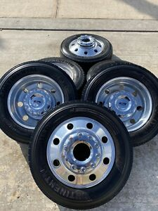 19 5 Inch Ford F 450 Dually F 550 King Ranch Rims Wheels Tires Ram 4500 Oem