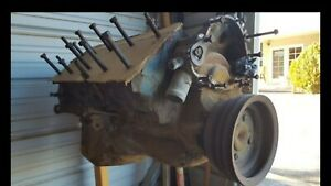 1973 Pontiac 400 Block With Crank And Pistons Used Pick Up Only