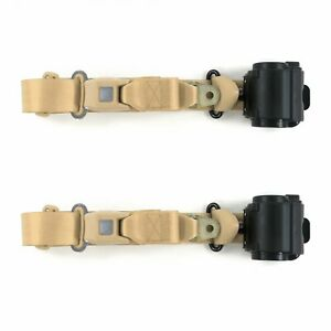 1997 2006 Standard 3pt Tan Retract Bucket Seat Belt Kit 2 Belts