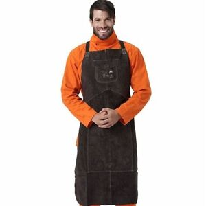 Welding Apron Leather Cowhide Welder Protect Cloths Carpenter Blacksmith Clothin