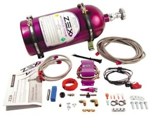 Zex 82021 55 75 Hp Universal Wet Nitrous Oxide Kit For 4 And 6 Cylinder Engines
