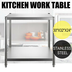 24 x30 Stainless Steel Kitchen Work Prep Table Bench Commercial Food Restaurant