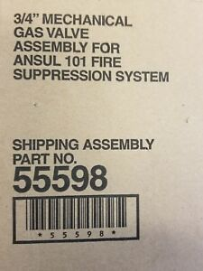 Ansul Pn 55598 3 4 Gas Valve For R 102 System