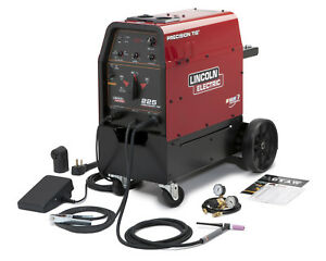 Lincoln Precision Tig 225 Welder With Cart Tig Rod Helmet More K2535 2