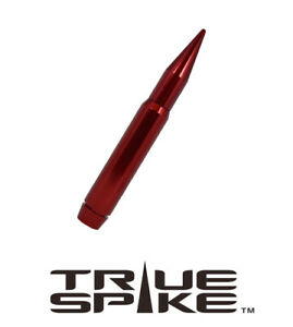 True Spike Billet 7 Long Fat Bullet Antenna Red For Ford F250 F350 Super Duty