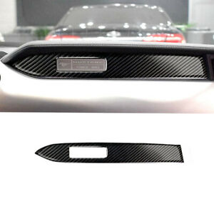 Fit For Ford Mustang 2015 2019 Carbon Fiber Interior Dashboard Panel Cover Trim