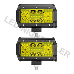 2x 5 350w Led Work Light Bar Flood Spot Pods Driving Off road 4wd 12v Wiring