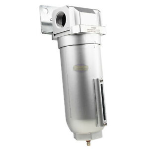 New 1 Inline Air Compressor In Line Water Moisture Filter Trap Separator