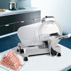 Electric meat slicer commercial 10 blade 240w 530 rpm deli food veggies Cutter