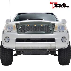 Eag Led Mesh Main Grille Upper Front Grill Fit For 2005 2011 Toyota Tacoma