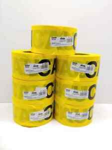 New 7 Pack Of Irwin 66231 Strait line 1000 X 3 Caution Barrier Tape