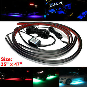 Under Glow Tube Neon Light Wireless Bluetooth Remote Control Rgb Led Strip Mbcd