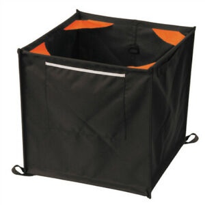 Weaver Throw Line Storage Cube 16 Collapsible Black orange