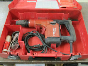 Hilti Te35 Rotary Hammer Drill With Accessories And Drill Bits In Case