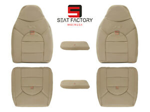 2000 Ford F 250 F 350 Lariat Driver Passenger Synthetic Leather Seat Covers Tan