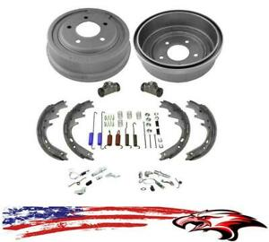 New Rear Drums Shoes Wheel Cylinders Spring Kit 8pc For Ford 87 96 E150 F150