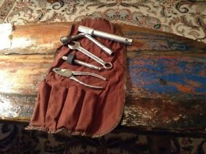 Vintage Mercedes Benz Tool Kit With Canvas Pouch
