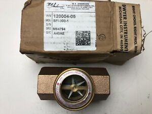 We Anderson Sfi 300 1 Wheel Flow Indicator Double Sight Glass Fitting 1in