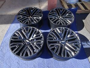 2019 Chevrolet Silverado 1500 Tahoe Oem Factory 22 Wheels Rims Black 23377420