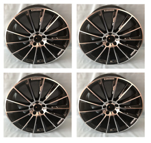Mercedes 20 Inch C63 Staggered Rims Wheels Set For E350 E550 C300 C250 Amg