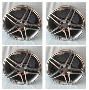 Mercedes 18 Inch C63 Staggered Rims Wheels Set For E350 E550 C300 C250 Amg