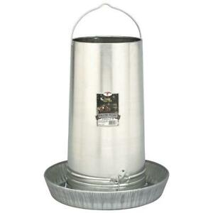 Little Giant Hanging Poultry Feeder 40 Lb Feed Galvanized Steel Rolled Edges