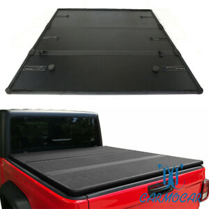 Solid Tri fold Tonneau Cover For 2020 Jeep Gladiator Jt Pickup Truck Bed Hard