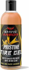 Tire Shine Cleaner Car Wheels Detailing Protect Rubber Trim Plastic Dashboard