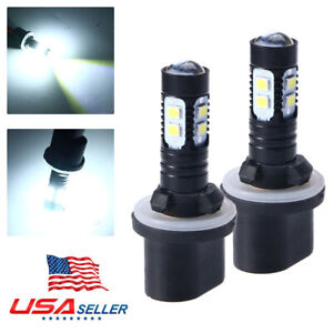 2x 880 890 892 893 899 100w 6000k Xenon White Cree Chip Led Fog Light Bulbs Fast