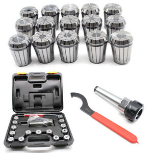 Er32 Collet Set Mt3 Shank Chuck Spanner box For Milling Machine High Precision