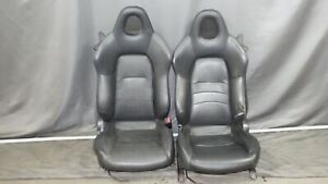 00 09 Honda S2000 Black Leather Seats Oem Ap2 Ap1