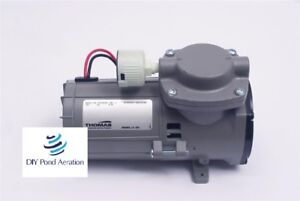New Thomas 107cdc20 12v Diaphragm Compressor vacuum Pump 1 10 Hp W Filter