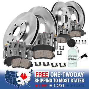 Front rear Brake Calipers Rotors Pads For 1999 2000 2001 2004 Grand Cherokee