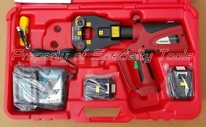 Burndy Pat81kftli Hydraulic Battery Operated Dieless Crimper Crimping Tool New