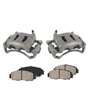 Front Oe Brake Calipers Ceramic Pads For 1999 2000 2001 2002 Frontier