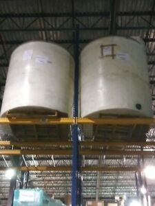 1200 Gallon Closed Head Storage Tank 6 Diameter By 6 High Polypropylene