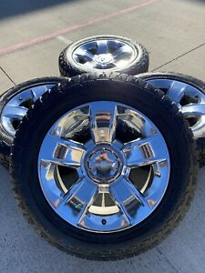20 Inch Chevy Silverado 2018 Oem Chrome Rims Wheels Tires 2015 2016 2017 2019