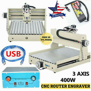 Usb 3 Axis 400w Cnc 3040 Router Engraver Wood Drill milling Machine Handwheel