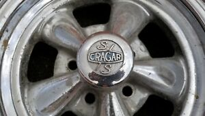 Vintage Chrome Cragar 15x8 Wheels With Centers Fits Bolt Pattern 5x4 5 Mopar