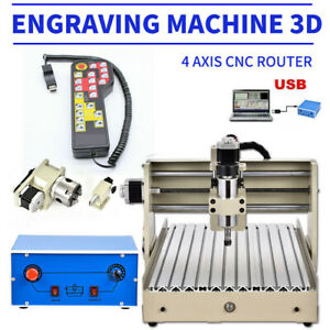 Usb 4 Axis 400w Cnc 3040 Router Engraver Metal Drill milling Machine Handwheel