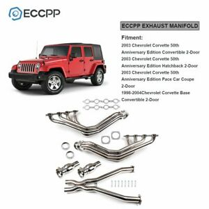 Eccpp 3 Long Tube Exhaust Headers Manifolds X Pipe For 97 04 Chevy Corvette