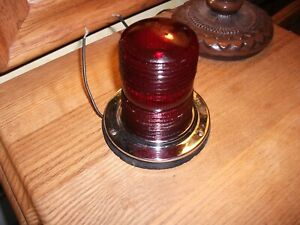 Vintage Arrow 35 Red Glass Truck Marker Light Boat Rare