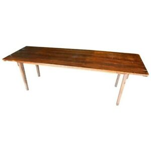 Harvest Table Handmade Of Pine Early 1900s Legs Fold To Store